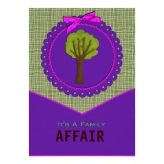 Tree Design Family Reunion Invitation