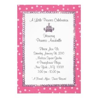 Little Princess Tiara Invitations