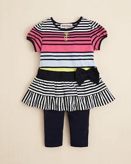 Stripe Jersey Dress & Legging Set   Sizes 3 24 Months