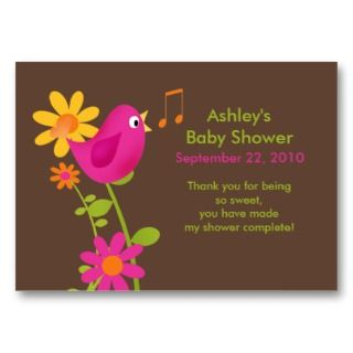 Sweet Birdie Baby Shower Favor Tags Business Cards