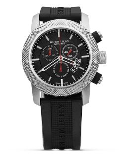 Sport Chronograph Watch with Black Strap, 44 mm