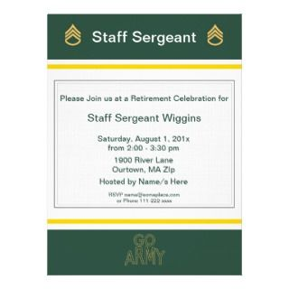 Army Sergeant First Class Invitation Card