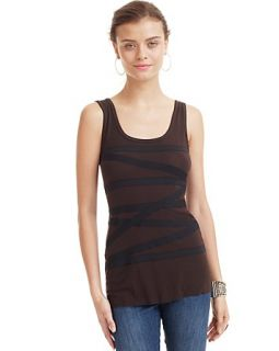 Bailey 44 Tamazight Asymmetric Stripes Top
