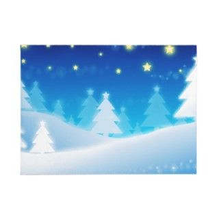 Blue Winter Scene Christmas gifts featuring a number of xmas trees in
