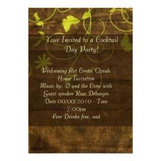 Burgundy Brown Formal Dinner Party Invitation