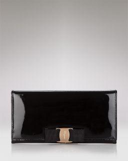 4999b3c07ea ... Salvatore Ferragamo Miss Vara Bow Clip Patent Leather Wallet ...