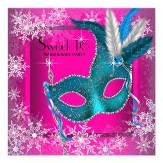 Pink Dress on Quinceanera 15th Tiara Hot Pink Black Zebra Dress Custom Announcements