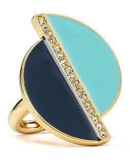 abs by allen schwartz disc ring price $ 65 00 color gold crystal multi