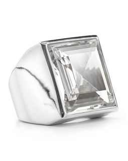 michael kors clear crystal cocktail ring orig $ 115 00 sale $ 80 50