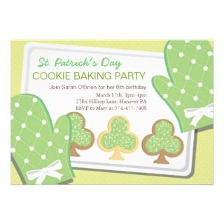 St. Patricks Day Dinner Party Invitations