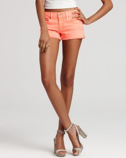 AG Adriano Goldschmied Shorts   The Daisy Super Low Rise in Neon