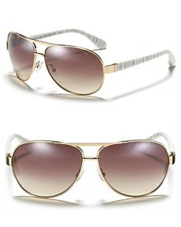MARC BY MARC JACOBS Metal Aviator Sunglasses with Plastic Temple