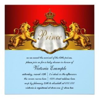 invitations this elegant red prince baby shower invitation is easily