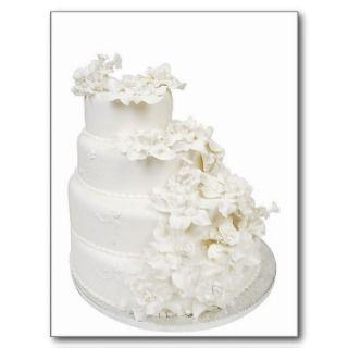 Pastel de bodas multi de la capa tarjeta postal de