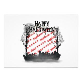 Halloween Scene Photo Frame Invitations