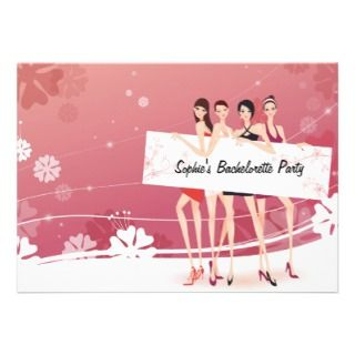Girls Night Bachelorette Party Invitation