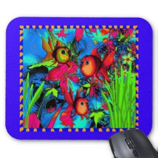 Mousepad Art For Kids Goldfish Underwater mousepads by Darling_Gifts