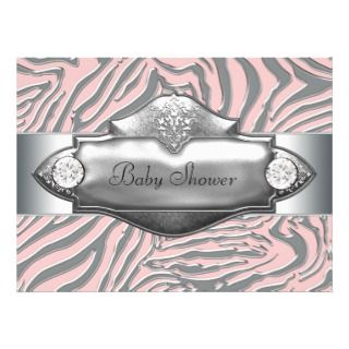 Pink Zebra Diva Tween Birthday Party Invitation
