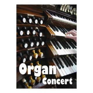 Organ concert invitation   keyboards