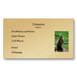 Business Card / Prairie Dog