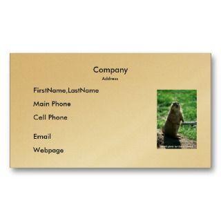 Business Card / Prairie Dog
