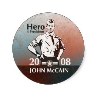 John McCain, Hero 4 President Sticker
