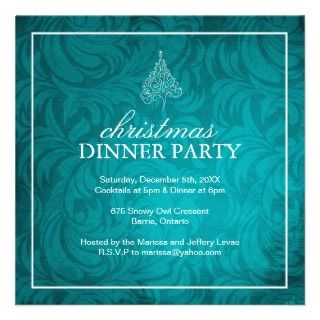 Classy Christmas Dinner Party Invitation