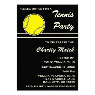 invitation for your tennis party use this for a charity match after