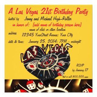 Casino Theme Party Invitations, Announcements, & Invites