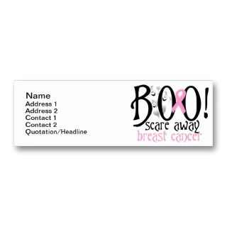 BOO! Scare Away Breast Cancer Business Card Template
