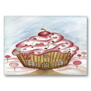 cute cupcake house decorates these business cards use this business