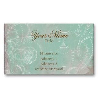 Vintage French Blue Toile & Script Business Cards