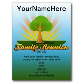 Green Tree Family Reunion Logo Post Card