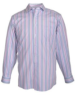 Double TWO Paradigm formal stripe shirt Teal