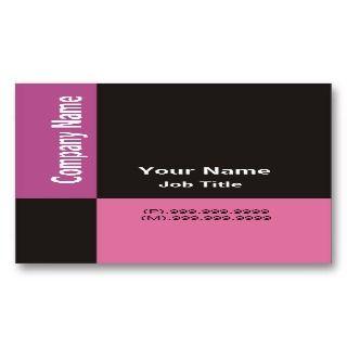 Modern Business Card ~ Hot Pink & Black Checks
