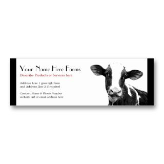 Dairy or Holstein Cattle Ranch Business Card Template