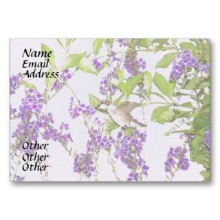 Floral Hummingbird Business Card