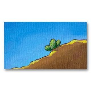 desert landscape art colorful painting business cards