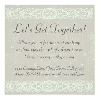 dinner party invitation can be customized with your party info casual