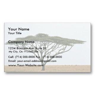 Umbrella Thorn Acacia Tree Business Cards