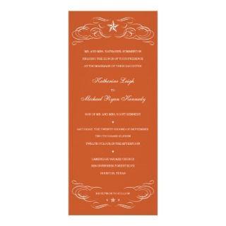 Burnt Orange Southern Style Wedding Invitations