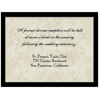 Black n Cream Red Tulip Damask   Wedding Invites invitation