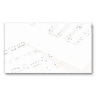 Blank Music Business Card