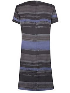 Great Plains Rothko stripe pleat front dress Blue