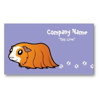 Cartoon Guinea Pig (red crested) business cards by SugarVsSpice