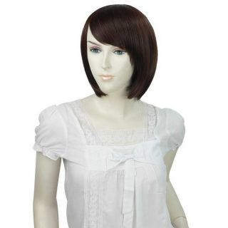 New Stylish Womens Girls Short Fashion Full Straight Hair Wig 3 Colors