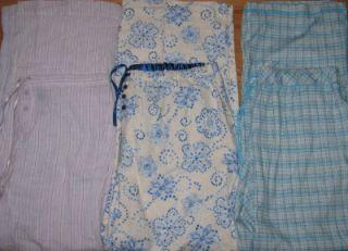 Karen Neuburger Planet Sleep Lounge Pants Womens Large 3 Pair New