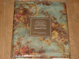 Kathy Ireland Home Fabric Shower Curtain Country Rose Green Gold