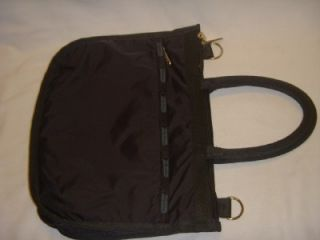 LeSportsac Basic Black Nylon Satchel Purse Handbag
