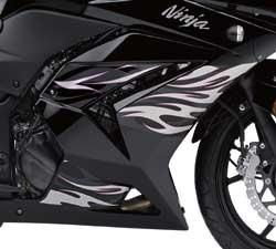 Kawasaki Ninja 250R Pink Tribal Flame Graphics Kit